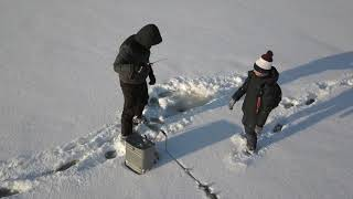 Рыбалка в самарской области зимой на реке сок