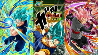 Dokkan Battle Beating VB with Rose + SRs!