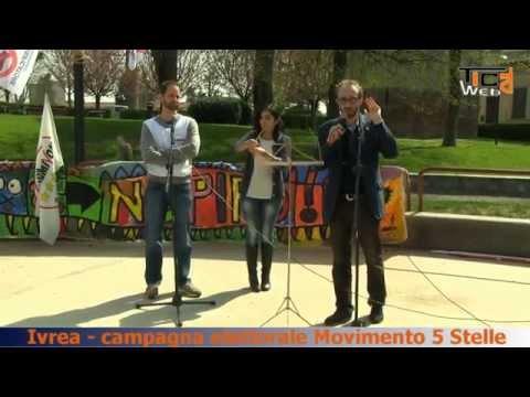 Preview video Tappa ad Ivrea, per il Movimento 5 Stelle, per presentare i candidati per le prossime elezioni regionali.