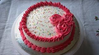 Eggless Vanilla Birthday Cake || Simple Vanilla Birthday Cake || Birthday Cake || Easy Vanilla Cake