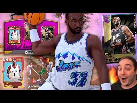 NBA 2K19 My Team GALAXY OPAL KARL MALONE! THIS CARD GOT CRAZY STATS!!!