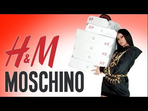 H&M MOSCHINO HAUL & TRY ON видео