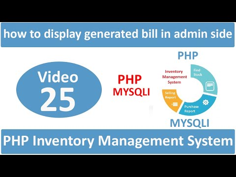 how to display generated bill in admin side in php ims