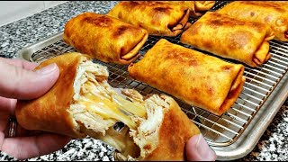 How To Make Chimichangas | Cheesy Chicken Chimichangas | Chimichanga Recipe