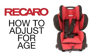 Recaro Young Sport Hero - Converting Seat from ECE Group 1 to Groups 2/3