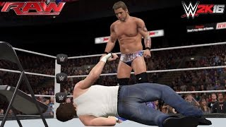 WWE 2K16: Chris Jericho attacks Dean Ambrose on RAW 05/16/16 (Custom Scenario)