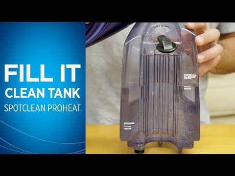 How to Fill the Clean Water Tank on Your SpotClean Portable Carpet Cleaner