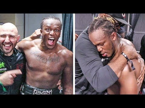 KSI IMMEDIATE REACTION TO BEATING LOGAN PAUL IN REMATCH FIGHT -
