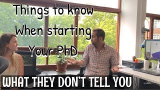 Things We Wish We Knew Before Starting A PhD| PhD Advice