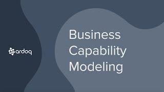 Use Case - Business Capability Modeling