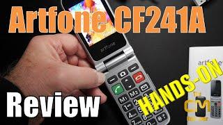 Artfone CF241A Test: Senioren Klapp Smartphone mit SOS Notruf - Hands-on (Deutsch, engl. hints)