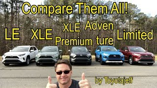 Comparing ALL 2019 RAV4 Trim Levels: How to pick one!