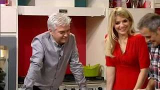 Holly & Phil can't stop laughing at a dry kebab & peanut butter - This Morning - 26th January 2012