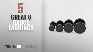 10 Best 8 Gauge Earrings [2018]: 4 Pairs 6mm-12mm Stainless Steel Men Women Unisex Fake Ear Plugs