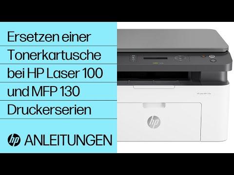 Ersetzen einer Tonerkartusche bei HP Laser 100 und MFP 130 Druckerserien