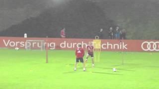 FC Bayern Munich Schweinsteiger & Robben Individual Training Doha 2014