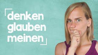 "German Lesson (268) - The Verb ""to think"" - B1/B2"