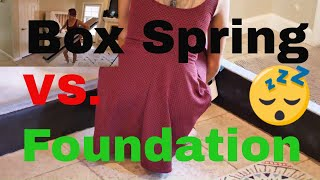Box Spring Vs  Foundation (Finally a replacement for that old box-spring!)