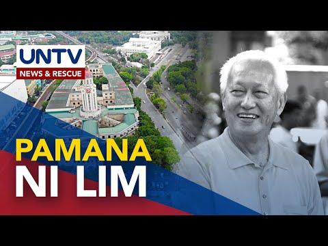 [UNTV]  Malacañang, ginunita ang 'Law and Order' legacy ni dating Manila Mayor Lim