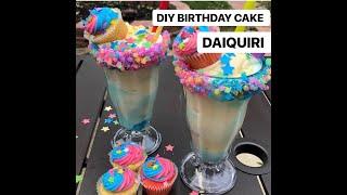 DIY BIRTHDAY CAKE MILKSHAKE AND DAIQUIRI