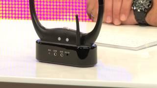 Kabelloses Funk-TV-Hörsystem mit Kinnbügel
