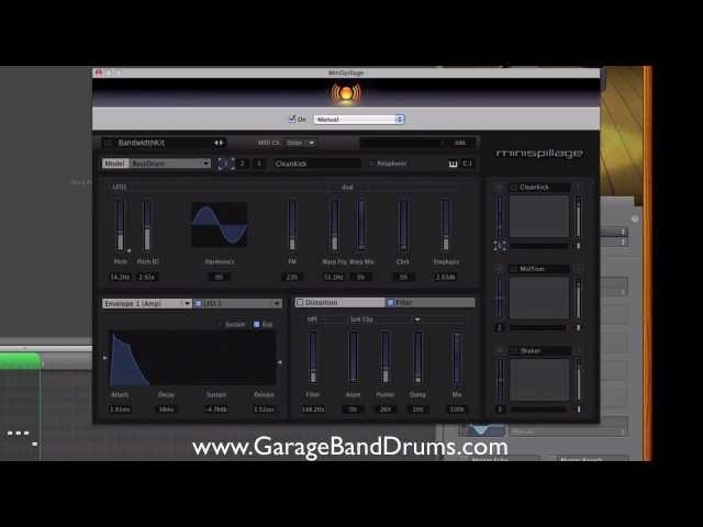 How To Use MiniSpillage Drum Synth In GarageBand
