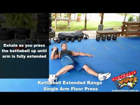 Kettlebell Extended Range Single Arm Floor Press