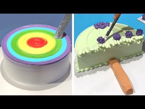 3 ideias divertidas e simples de decorao de bolo para aniversrio. Como fazer receitas de bolo