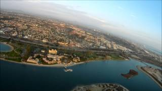 Over San Diego.  FPV GoPro on RC plane.