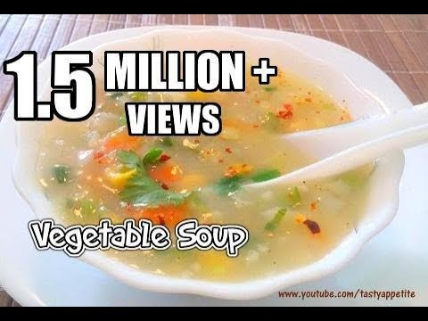 Video Vegetable Soup Recipe / Mixed Vegetable Soup - Tasty Appetite