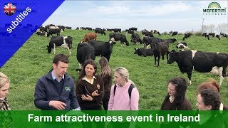 Farm attractiveness event for agricultural science students at Karol Kissane's farm (Kerry, Ireland)