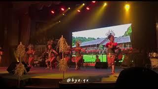 "Sarawak Dance ""Ngajat Lesong"" By IBAN At Sarawak Cultural Village Part 2"