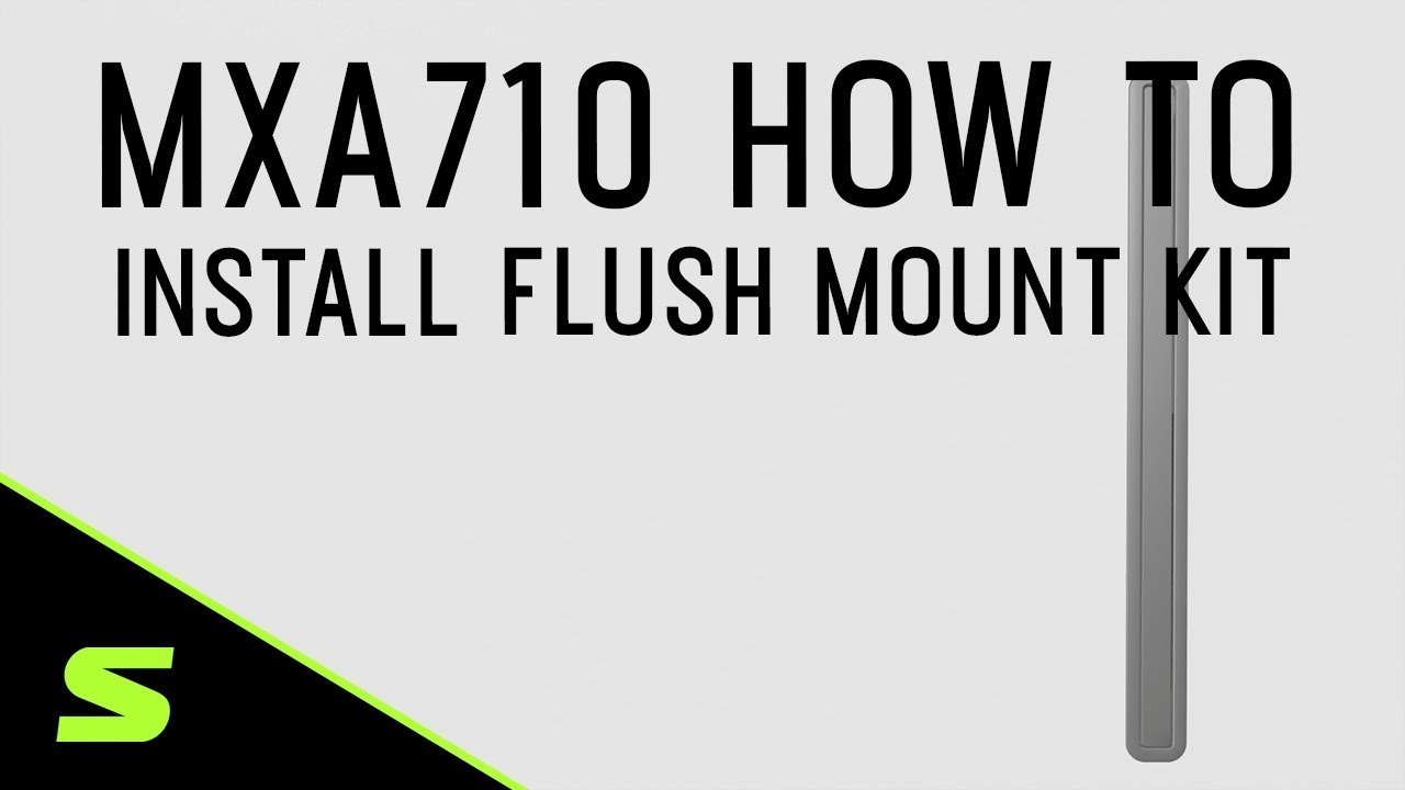 Shure MXA710 How To Install the Flush Mount Kit