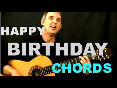 Happy Birthday Chords   Easy Beginner Guitar Song