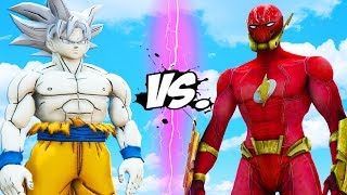 THE FLASH (ElseWorld) vs GOKU (Masters Ultra Instinct)