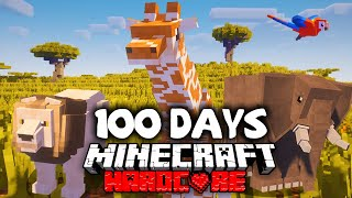 How I Survived 100 Days in Africa in Minecraft...