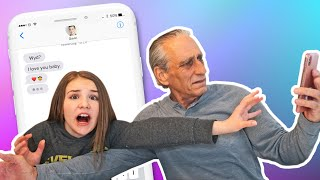 Grandpa REACTS to MY FUNNIEST Texts **CRUSH ASKED ME OUT**📱💞| Piper Rockelle