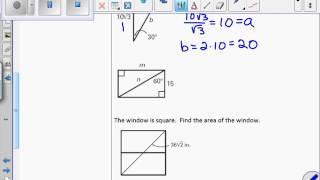 Unit 7 Lesson 2 Special Right Triangles