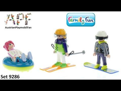 Vidéo PLAYMOBIL Family Fun 9286 : Vacanciers aux sports d'hiver