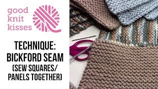 Bickford Seam | Seam or Sew Squares or Panels together (CC) Sew garter