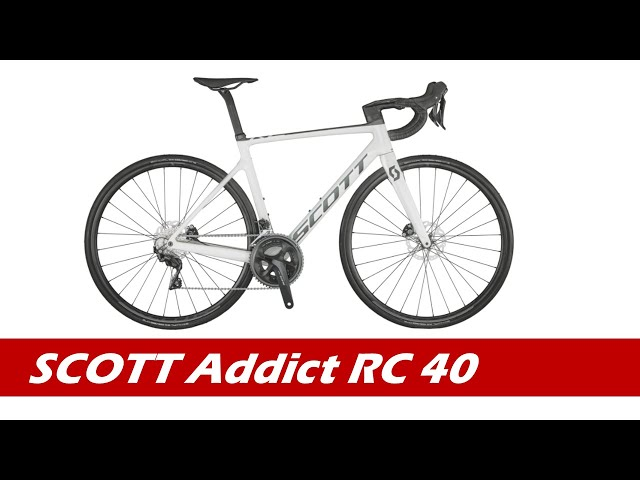 Видео Велосипед Scott Addict RC 40 (TW) Pearl White
