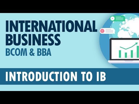 INTRODUCTION TO INTERNATIONAL BUSINESS | Kannur University | BBA/ BBA TTM/ BCom.