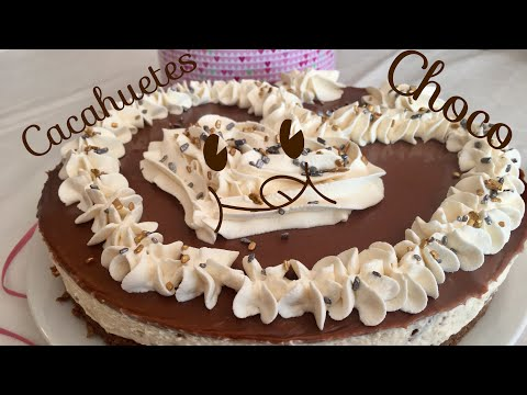 Tarta de Crema de Cacahuetes y Chocolate - Sin horno - Recetas By Fany