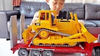 예준이의 포크레인 중장비 자동차 장난감 색깔놀이 Car Toy Play with Excavator
