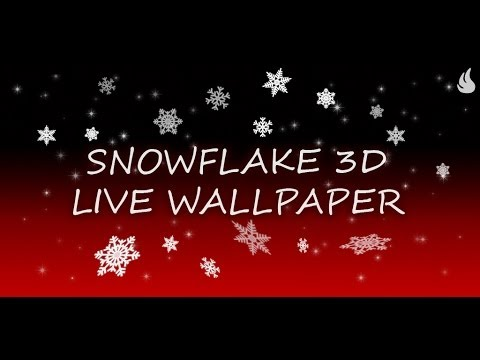 Video of Snowflake 3D Live Wallpaper