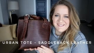Saddleback Leathers Urban Tote Bag | Lightweight Shoulder Bag | Full Review