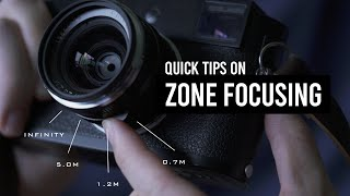Quick Tips on Zone Focusing