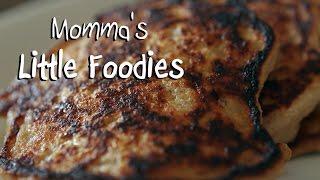 Momma's Little Foodies:  Oatmeal Pancakes with Greek Yogurt & Banana