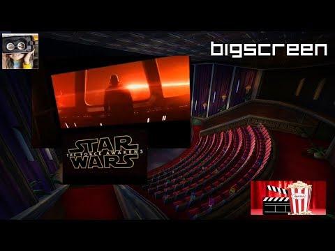 Watching 3D Star Wars Trailer In Bigscreen VR on Oculus Quest