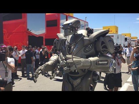A Robot in the Paddock - Spanish GP - Scuderia Toro Rosso